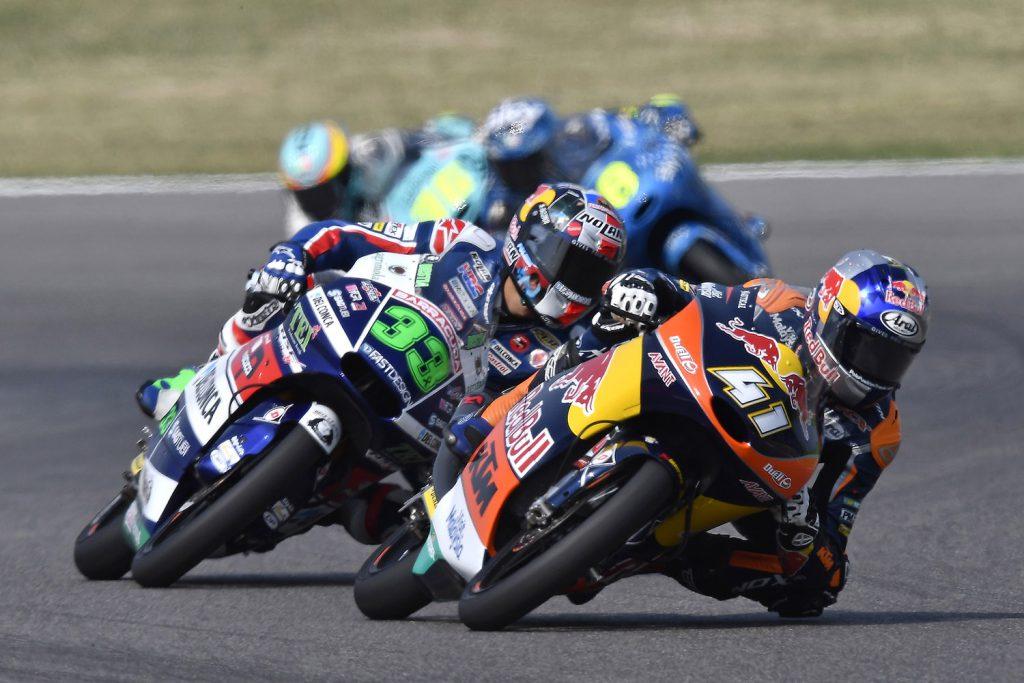 Moto3: Sieger Binder vor Bastianini.