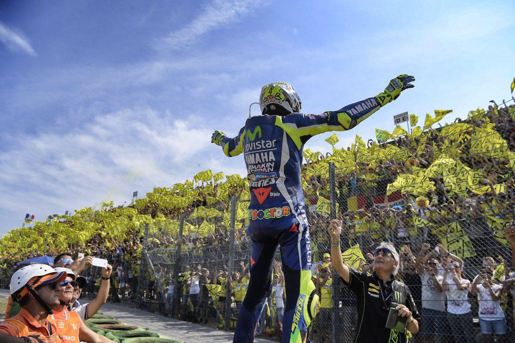 Riesenbegeisterung für Publikumsliebling Rossi.